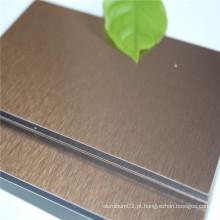 Painel composto de alumínio escovado de 4mm ACP na fábrica de Guangzhou