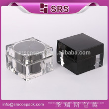 Unique Shape Square Clear Mask 30g 50g 100g Containers And Fancy Acrylic Cosmetic Packaging Cold Cream Jar