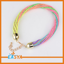 Acrylic Colorful Beads Necklace Crystal Chain Bead Jewelry