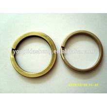Chine fournisseur métal belle porte-clés ronde design personnalisé bon marché en vrac porte-clés