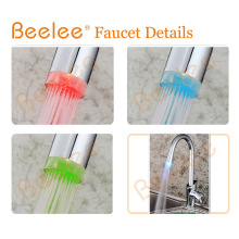 LED Single Handle Hot and Cold Water Colored Kitchen Sink Faucet