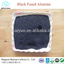 oxyde d'aluminium / corindon prix pour polissage oxyde d'aluminium noir Al2O3 85%