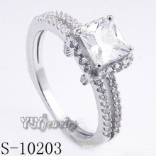 High Quality 925 Sterling Silver CZ Ring (S-10203)