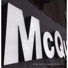 Внешние белый живопись с белого освещения цвета светодиодные лампы Store реклама знак буквы