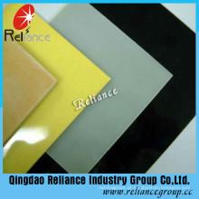 4mm / 5mm / 6mm / 8mm Back Painted Glass / Back Color Vidro / Branco Vidro pintado / Vidro pintado preto / Vidro pintado de decoração