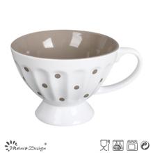Tasse à soupe de 13,5 cm Deux glaçures à motif de pois