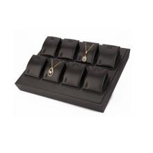 Новый дизайн 8 слотов Черный Faux Leather Jewelry Подвеска Дисплейный лоток