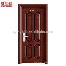 porte de sécurité simple de conception de porte principale en métal bon marché avec des images de serrure de poignée