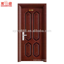 cheap metal main door design single security door with handle lock pictures