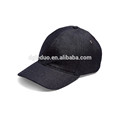 Adjustable black leather back strap dad hat cap custom baseball caps