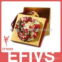 2013 flor elegante caja de favor de la boda hecho en China