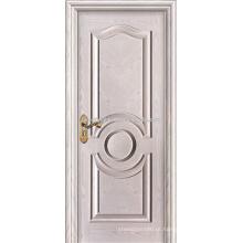 Pintado de branco portas MDF folheado Carvalho Hotel Interior com moldagem levantada