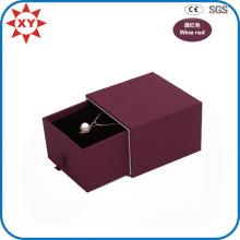 Benutzerdefinierte Luxus Weinrot Halskette Geschenkbox