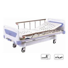 Cama de hospital médica móvil full-Fowler con placa de ABS