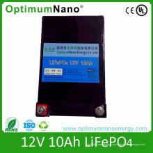 Bloco profundo da bateria do ciclo 12V 10ah LiFePO4 para o Portable pequeno