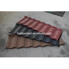 Feuilles de toit en aluminium recouvert de pierre à carreaux