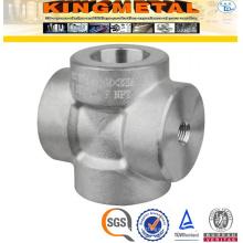 ASTM A105 3000lbs Socket Weld Pipe Fittings Threaded Cross