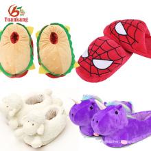 Divertidas zapatillas de animales Custom Sea Turtle / Donkey / Anime / Emoji / Camarón / Shark / Cow / Unicornio / Cabra / Hamburguesa / Spider Plush Slipper para niños