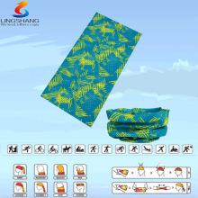 LSB-0037 Ningbo Lingshang 100% poliéster bandana multifuncional sin costuras al aire libre headwear al por mayor personalizada bandolera tubo de cuello