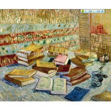 Todavía vida pintura al óleo de libros