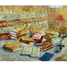 Still Life Oil Painting Of Books