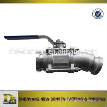 OEM 316SS investment casting 3 way Manual quick release ball valve