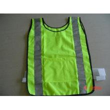 100% poliéster Alta visibilidad de advertencia seguridad reflectante chaleco deportivo