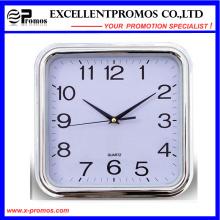 Серебряная рамка логотипа печати квадратных пластиковых настенных часов (Item27)