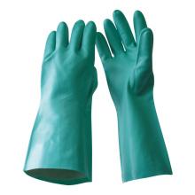 NMSAFETY gants de nitrile à gantelets vert nitrile non doublés