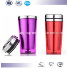 16 Ounce Double Wall BPA Free Personalized Insulated Stainless Steel Travel Mug, Coffee Mug, Auto Mug