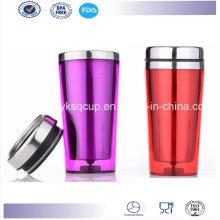 Parede dupla de 16 onças BPA livre personalizado isolado inox caneca, caneca de café, caneca de Auto