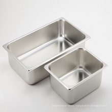 Factory Price Good Polishing Wholesale Stainless Steel Food Plate Buffet Dishes GN Pan