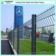 PVC-beschichteter Draht-Ineinander greifen-Zaun für heißen Verkauf