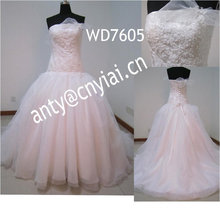WD7605 светло-розовый бальное платье свадебные платья