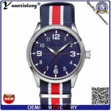 Yxl-862 Relojes para hombre de primera marca de lujo de los hombres de lona militar y muñeca pulsera de cuarzo de la OTAN
