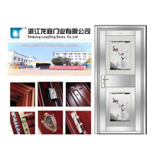 Puerta de vidrio de una puerta de acero inoxidable 201 (LTSS-9011)