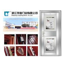 Porta de vidro de aço inoxidável 201 única porta (LTSS-9011)