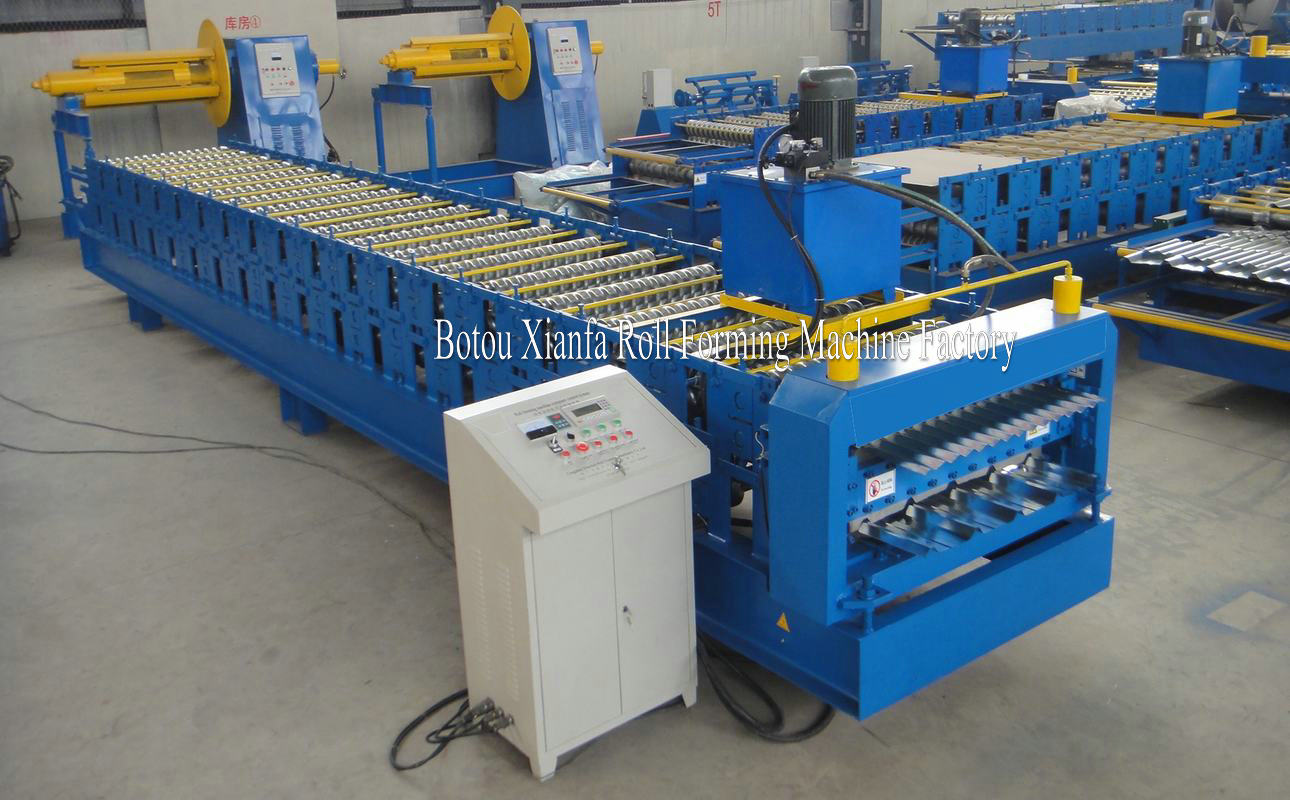 alu zinc rooing machine