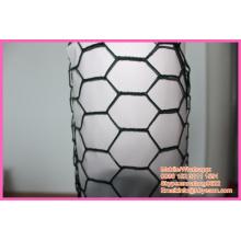 """BWG 16 1 """"revestimento de vinil galvanizado gaiola hexagonal rede de arame de galinha"""
