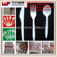 cuchillo tenedor cuchara molde fabricante en china / china proveedor producción cuchillo tenedor cuchara plástico molde de inyección