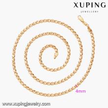 43541 2017 populaire plaqué or Arabie Saoudite bijoux mode 18k simple plaqué or bijoux collier