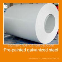prélaqué cgcc en acier galvanisé, fabriqué en Chine