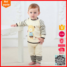 Hot selling knitted cardigan sweater designer baby clothes