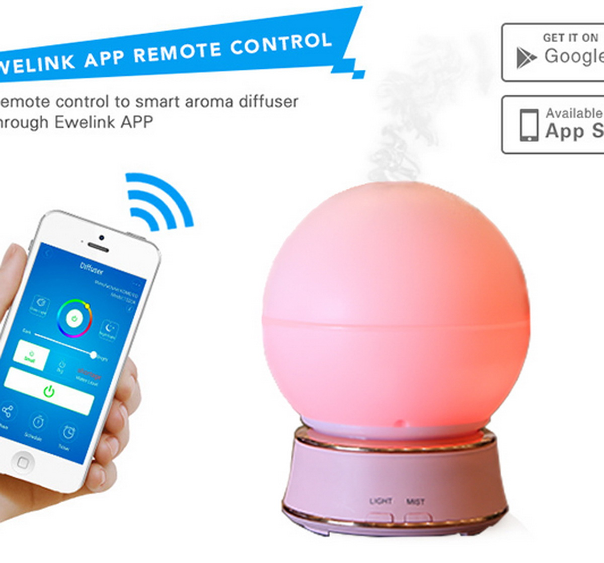 Cool Mist App control Aroma Diffuser Humidifier