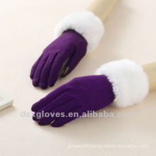 touch screen gloves with fur cuff
