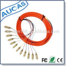 Hersteller von Glasfaser-Zopfkabel und Patchkabel mit SC LC ST FC Stecker Heißer Verkauf