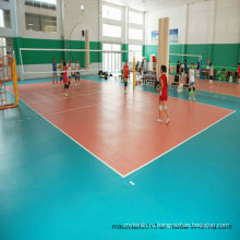 Китай Профессиональные спортивные волейбольные ПВХ напольные покрытия