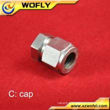 Adaptateur industriel en acier inoxydable en acier inoxydable 316