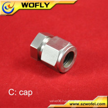 tube end 316 stainless steel industrial plug adapter