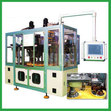 stator coil winder and inserting machine for three phase motor